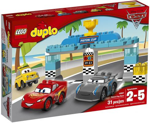 """Конструктор LEGO """"Duplo"""" - Гонка за Кубок Поршня 31 элемент 10857"""
