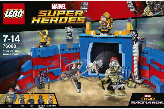 """Конструктор LEGO """"Супергерои"""" - Тор против Халка: Бой на арене 492 элемента 76088"""