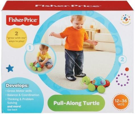 Развивающая игрушка Fisher Price Обучающая черепашка на колесиках Y8652 от 123.ru