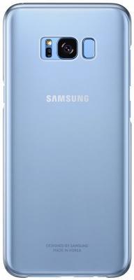 Чехол Samsung EF-QG955CLEGRU для Samsung Galaxy S8+ Clear Cover голубой/прозрачный чехол для сотового телефона samsung galaxy s8 clear cover black ef qg950cbegru