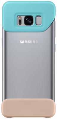 Чехол Samsung EF-MG950CMEGRU для Samsung Galaxy S8 2Piece Cover зеленый/коричневый чехол samsung ef mg955cvegru для samsung galaxy s8 2piece cover зеленый фиолетовый