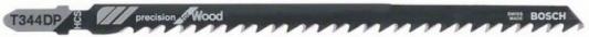 Лобзиковая пилка Bosch T 344 DP HCS 5шт 2608633A36 пилка лобзиковая t 1044 dp 3 шт hcs hawera f00y266255