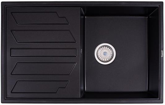 Мойка Weissgauff QUADRO 800 Eco Granit черный  weissgauff classic 800 eco granit серый шёлк