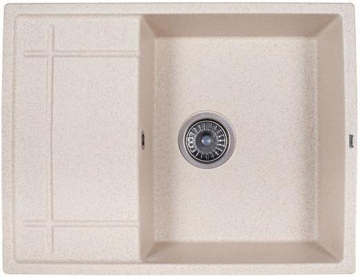 Мойка Weissgauff QUADRO 650 Eco Granit светло-бежевый  цена и фото