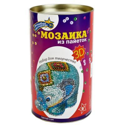 """Мозайка из пайеток Волшебная мастерская """"Слон"""" 3D-06"""