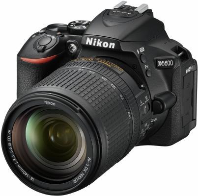 Зеркальная фотокамера Nikon D5600 KIT 18-140mm 24.1Mp черный VBA500K002 julie adair king nikon d5600 for dummies