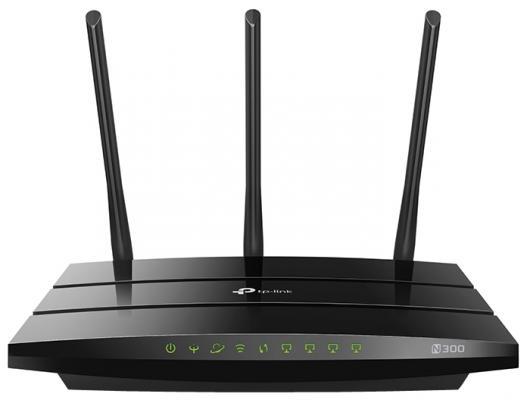 Беспроводной маршрутизатор ADSL TP-LINK TD-W9977 802.11bgn 3000Mbps 2.4 ГГц 4xLAN черный wi fi роутер tp link td w8961n