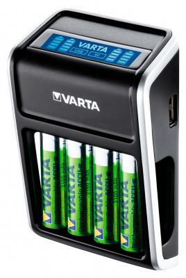 Зарядное устройство + аккумуляторы 2100 mAh 4шт Varta LCD Plug Charger