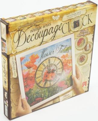 Набор для творчества ДАНКО-ТОЙС Decoupage clock с рамкой Часы от 9 лет DKC-01-04 digma cyber 3 8gb blue mp3 плеер
