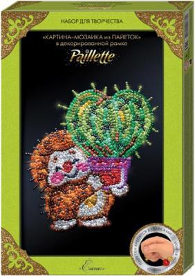 Набор для творчества ДАНКО-ТОЙС мозаика из пайеток «Ежик» Пм-01-14 от 7 лет мягкие игрушки азбука тойс ежик