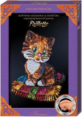 Набор для творчества ДАНКО-ТОЙС мозаика из пайеток «Котёнок» Пм-01-13 от 7 лет набор для творчества данко тойс my color clutch пони от 5 лет