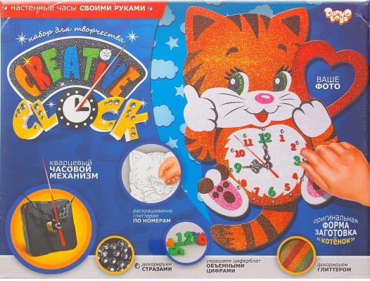 Набор для творчества ДАНКО-ТОЙС Creative clock Котёнок от 5 лет СС-01-01 набор для творчества creative creative набор для творчества раскрась кивающих собачек