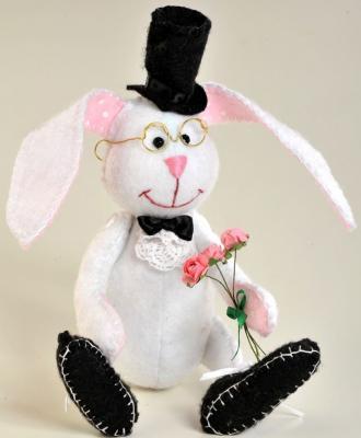 Набор для создания игрушки Перловка Ушастый джентльмен от 6 лет ПФЗД-1006 набор для создания игрушки перловка счастливый ёжик от 6 лет пфзд 1005