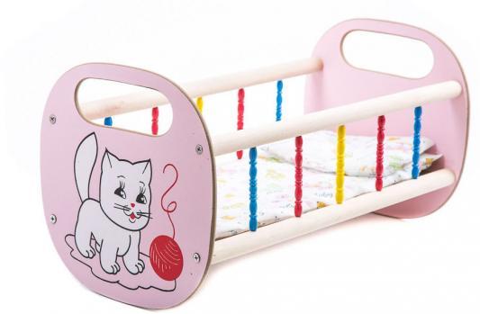 Кроватка для кукол Деревянные игрушки - Владимир деревянная маленькая СУС2