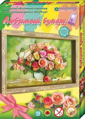 Набор для изготовления картин Клевер Любимый букет. Розы от 8 лет АБ 21-134