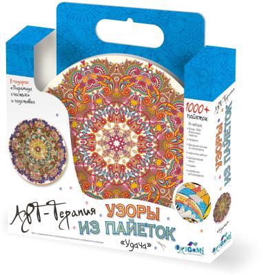 Мозайка из пайеток 1000 элементов ОРИГАМИ «Арт-терапия» Удача 2713 origami мозаика шкатулка складная сердечко оригами
