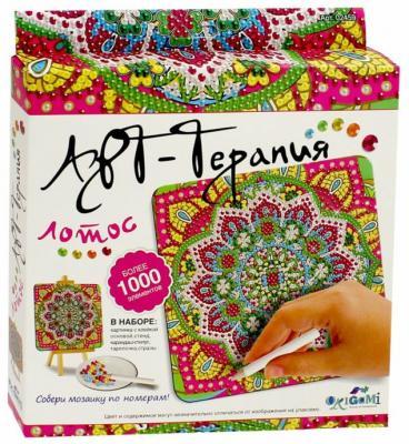 Мозайка ОРИГАМИ «Арт-терапия» Лотос 1000 элементов пазл оригами 360эл 47 5 47 5см серия арт терапия этника волк