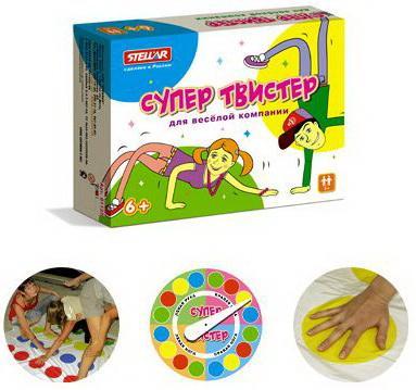 Напольная игра для вечеринки СТЕЛЛАР Супер Твистер 1137 настольная игра домино стеллар мультфильмы 10