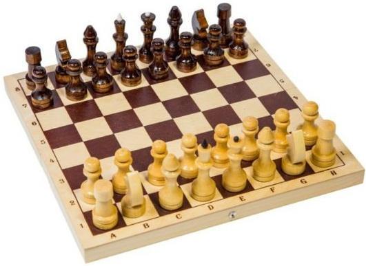 Настольная игра шахматы Шахматы обиходные лакированные дерев Р-1
