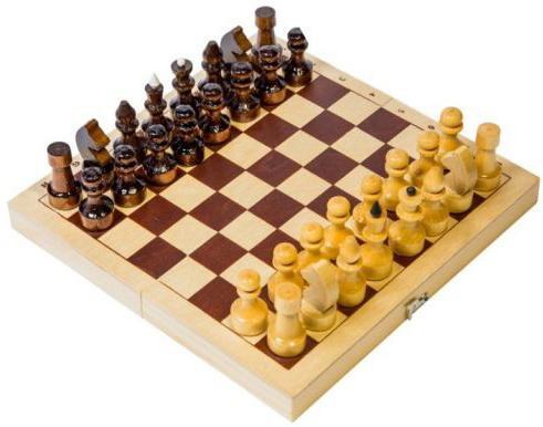 Настольная игра Шахматы походные дерев.  D-1
