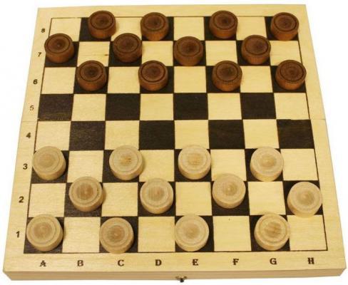 Настольная игра шашки Шахматы Шашки деревянные с доской  D-2