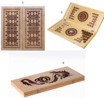 Настольная игра нарды Шахматы Нарды малые деревянные в ассортименте В-1