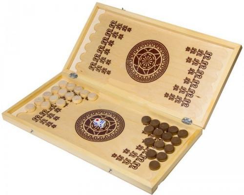 Настольная игра нарды Шахматы Нарды малые деревянные в ассортименте В-1 от 123.ru