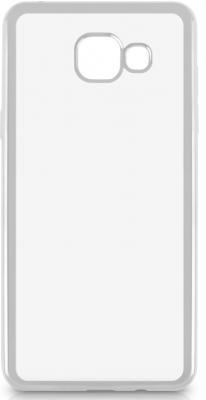 Чехол силиконовый DF sCase-23 с рамкой для Samsung Galaxy A5 2016 серебристый deppa для samsung galaxy a5 2016 black волк