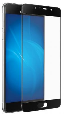 Зашитное стекло + чехол DF sKit-06 для Samsung Galaxy A3 2016 черный