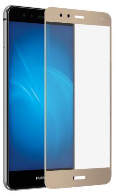 Закаленное стекло DF hwColor-12 для Huawei P10 Lite с рамкой золотистый