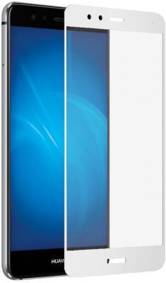Закаленное стекло DF hwColor-12 для Huawei P10 Lite с рамкой белый