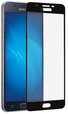 Закаленное стекло DF sColor-21 для Samsung Galaxy J7 2017 с рамкой черный