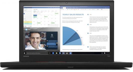Ноутбук Lenovo ThinkPad T560 15.6 1920x1080 Intel Core i7-6500U ноутбук lenovo thinkpad t470 14&quot 1920x1080 intel core i7 7500u 20hd005qrt