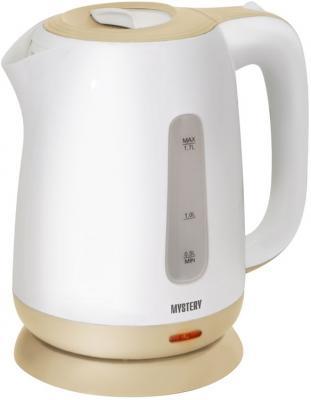 Чайник MYSTERY MEK-1637 1800 Вт белый бежевый 1.7 л пластик цена