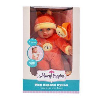Пупс Mary Poppins Моя первая кукла - Бекки с игрушкой 30 см со звуком 451188 mary poppins mary poppins кукла мягконабивная моя первая кукла бекки принцесса