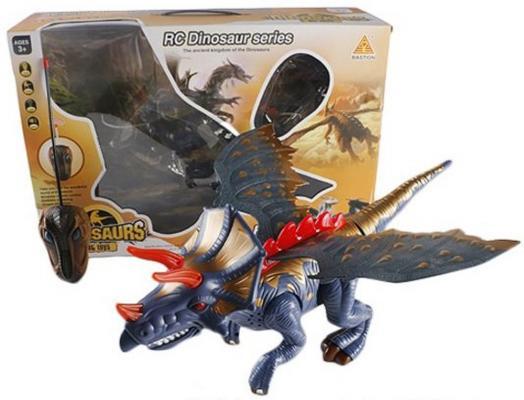 Интерактивная игрушка Shantou Gepai Динозавр от 3 лет разноцветный 2 канала, свет, звук интерактивная игрушка shantou gepai динозавр от 3 лет бежевый rs6125