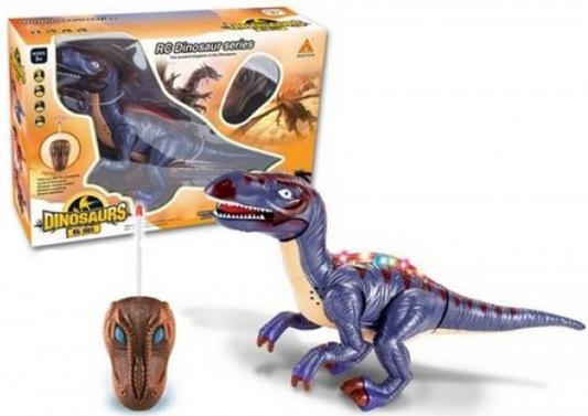 цена на Интерактивная игрушка Shantou Gepai Динозавр от 3 лет фиолетовый 2 канала, свет, звук