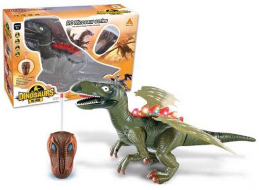 цена на Интерактивная игрушка Shantou Gepai Динозавр от 3 лет зелёный 2 канала, свет, звук, 60101
