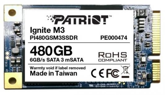 Твердотельный накопитель mSATA 480GB Patriot Ignite M3 Read 560Mb/s Write 545Mb/s SATAIII PI480GSM3SSDR снегоуборщик patriot 777 s