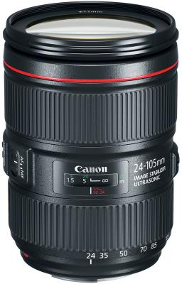 Объектив Canon EF IS II USM 24-105мм f/4L 1380C005 объектив canon ef 16 35 mm f 4l is usm