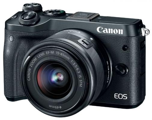 "Фотоаппарат Canon EOS M6 24.2Mpix 3"" 1080p WiFi 18-150 IS STM f/ 3.5-6.3 LP-E17 черный 1724C022"