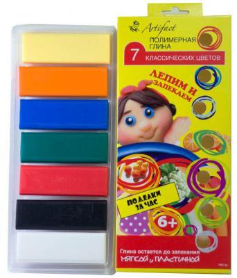 """Полимерная глина Artifact """"Лепим и запекаем"""", 7 классических цветов 7507-08 7 цветов"""