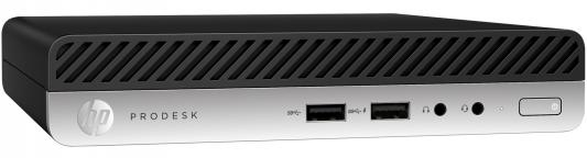 Компьютер HP ProDesk 400 G3 Mini Intel Core i5-6500T 8Gb SSD 256 Intel HD Graphics 530 Windows 7 Professional + Windows 10 Professional черный 1HL02EA компьютер hp z2 mini g3 intel core i7 6700 16gb ssd 256 m620 2048 мб windows 10 professional черный 1cc42ea
