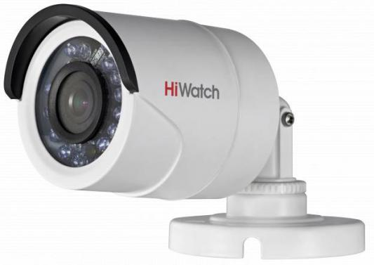 Видеокамера Hikvision DS-T200 CMOS 1/2.7 2.8 мм 1920 x 1080 серый белый видеокамера ip activecam ac d2121wdir3 1 9 мм белый