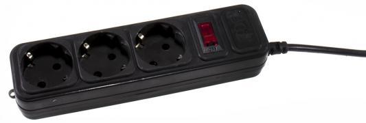 Сетевой фильтр 3Cott 3C-SP1003B-3.0 черный 3 розетки 3 м