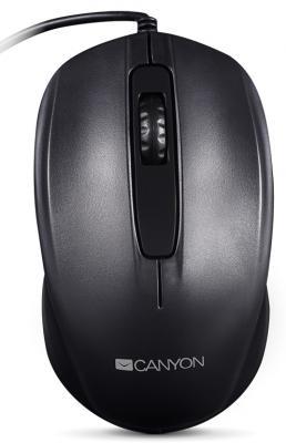 Мышь проводная Canyon CNE-CMS01B чёрный USB
