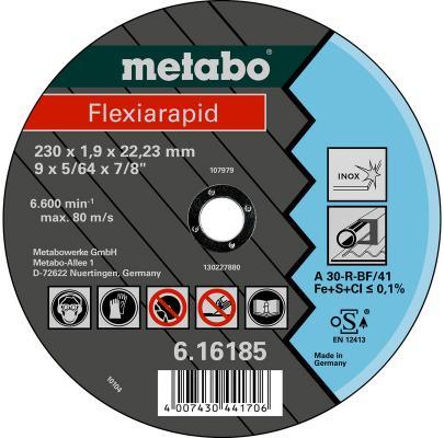 Отрезной круг Metabo Flexiarapid 230x1.9 прямой A30R 616185000
