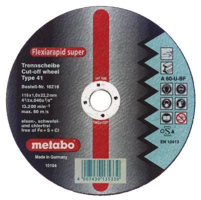 Отрезной круг Metabo Novoflex 115x2.5 прямой A30 616442000 фреза metabo rf14 115 без чашки