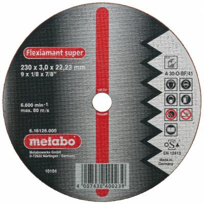 Отрезной круг Metabo ALU Flexiamant S 125x2.5 прямой А30О 616752000 отрезной круг metabo flexiamant s 350x3x25 4 прямой a24m 616338000