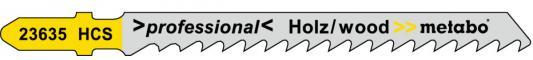 Лобзиковая пилка Metabo T101D 75х4мм HCS 5шт 623635000